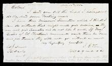 Letter from Capt. I. G. Vore to Colonel John Drew concerning lead and teamsters