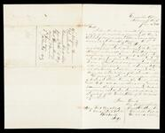 Letter from E. G. Chiles to Mr. Robinson concerning the money Chiles owed to Robinson and horses
