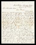 Letter from Daniel H. Ross in Fort Gibson to Charlotte Drew concerning the death of her husband