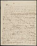Draft Copy of Letter from Chief John Ross to 'Sir' (John H. Sherburne, Special Agent)