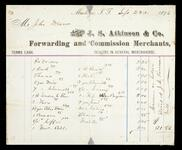 Account statement of Mr. John Drew owed to J. S. Atkinson & Co. for $31.83