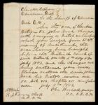 Order by Judge Abe Woodall to the sheriff of the Canadian District concerning John Hood's pistol