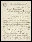 Letter from Principal Chief D. W. Bushyhead to Principal Chief of the Seminole Nation requesting arrest of Dick Glass