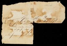 Fragment of a note to J. M. Bry…  [illegible] at Grand Saline