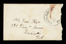 Envelope addressed to Mr. Lewis Ross in Washington D.C.