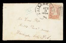 Envelope addressed to Mr. Lewis Ross in Washington, D.C.