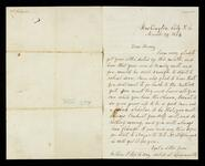 Letter from Lewis Ross in Washington D.C. to his son, Henry Ross in Pennsylvania