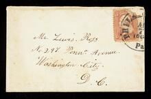 Envelope addressed to Mr. Lewis Ross in Washington D.C.
