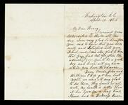 Letter from Lewis Ross to his son, Henry C. Ross who is in school, with personal greetings and five dollars enclosed.