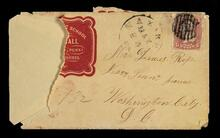 Envelope addressed to Mr. Lewis Ross in Washington, D.C.