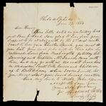 Letter from Lewis Ross to his son, Henry C. Ross concerning his visit to Henry's school in July. Henry is to give a Cherokee Speech, and other family members will be there