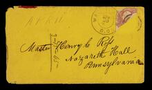 Envelope addressed to Henry C. Ross