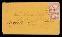 Envelope addressed to Lewis Ross, Cherokee Delegate, Washington, D. C., does not relate to this letter