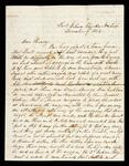 Letter to Henry Ross, from Lewis Ross, Fort Gibson, Cherokee Nation, describing raids on Wagon Trains from or to Fort Scott