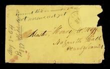 Envelope addressed to Master Henry C. Ross, Nazareth Hall, Pennsylvania is postmarked Fort Scott and does not relate to the letter