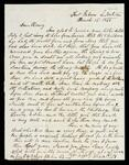Letter to Henry Ross from Lewis Ross, Fort Gibson referring to a pay-off of the troops in a few days and no bush-whackers near.  The name 'Miss Emma A. Dale' is written on the reverse side of the letter