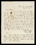 Letter to Henry Ross from Lewis Ross, Philadelphia referring to finding Dan H. Ross, New York, and his supply of goods for the store at Fort Gibson
