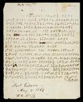 Letter written in Cherokee from Henry C. Ross at Fort Gibson, Cherokee Nation