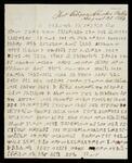 Letter written in Cherokee from Fort Gibson, Cherokee Nation
