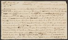 Sheet with Part of Letter