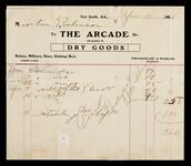 Account statement of Em Robinson with The Arcade