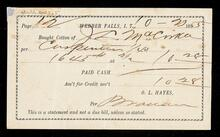 Statement of cotton sale from J. L. McCorkle to O. L. Hayes
