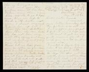 Letter from Lizzie to her sister Emma concerning Emma's parcel of family land and other family news