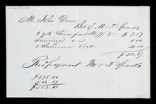 Receipt for Mr. John Drew for purchase made from M. & T. Sparks