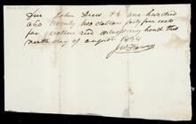 Promissory note from J.W. Flowers to John Drew