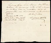 Receipt issued to Drew for $1000 in Treasury Notes by Seaborn Hill