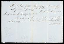 Receipted account statement for account of John Drew