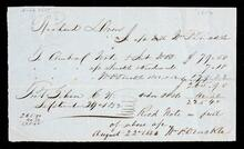 Receipted account statement for account of Richard Drew
