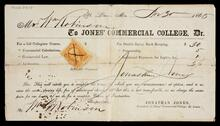 Receipt for Mr. William Robinson from Jones' Commercial College