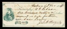 Receipt by J. S. A Kiusruby [sic]for purchase of reaper by W. G. Robinson
