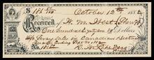 Receipt from D. W. Lipe to W. M.  West for $181.80