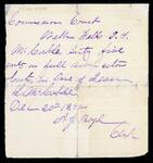Partial receipt of McCorkle for care of Isaac from A. J. Boyd