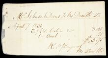 Receipted account statement to Mr. Johnson Davis for the total of $3.75