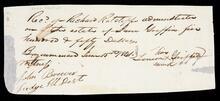 Note concerning estate of Jane Griffins