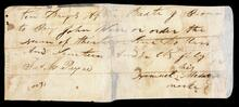 Promissory note for $35.00