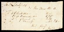Receipted account statement to Samuel Sitchfield for the total of $24.00