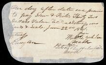 Promissory note of Wahteyahken and Ketsey Buffalofish for $32.00