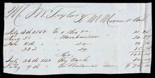 Account statement of Mr. Taylor for $71.15