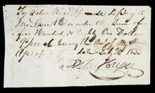 Promissory note of Peter Harper for $581.95