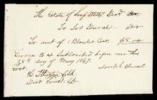 Note concerning estate of S. Watts