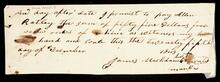Promissory note of James for $55.00