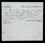 Promissory note from C. Runyanto to pay Drew & Fields $21.00
