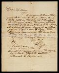 Note from John Ross to Col. John Drew concerning his order being printed in English and Cherokee