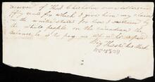 Receipt to Thomas Chisholm