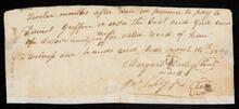 Note payable to Daniel Griffin by Margaret Lasley and Jas Lasley Jr.