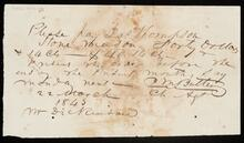 Order from Mr. Dickinson to pay Las Thompson, stone mason, $40.14